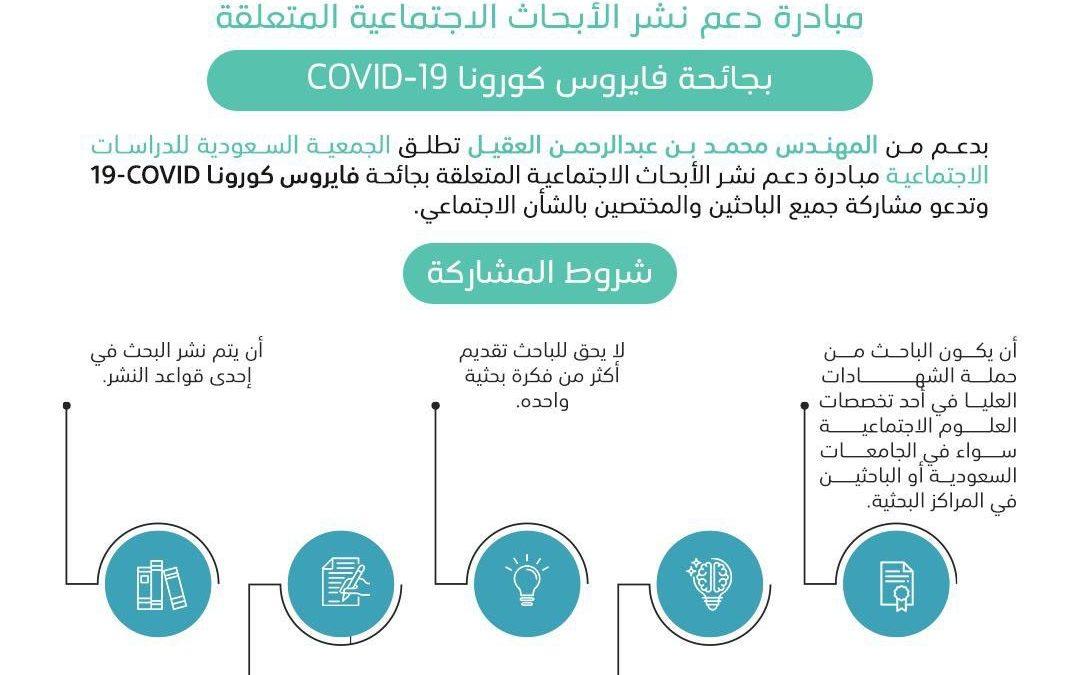 مبادرة دعم نشر الأبحاث الاجتماعية المتعلقة بجائحة فايروس كورونا COVID-19